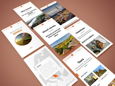 Serbia Incoming Mobile Screen Showcase fullwidth screen travel tourism responsive mobile