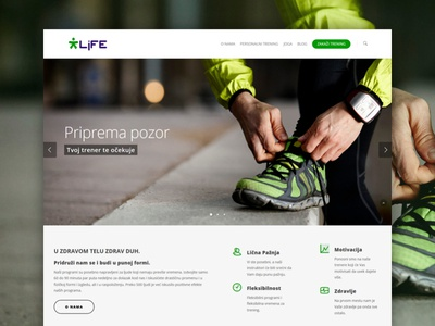 Ready.. Set.. Go! landing layout features slider fitness front website sport