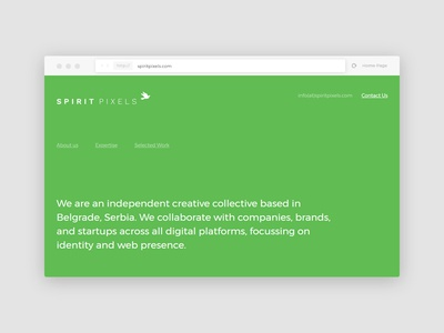 Simple & Clear typography clean simple agency landing website