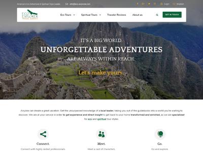 Eco & Spiritual Tours provider tours homepage green travel spiritual explorer eco website