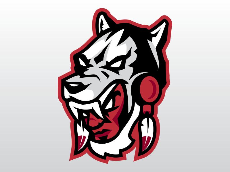 Wolf Warrior baseball cap baseball hat mascot wolf warrior native football basketball canada vector branding hockey sports logo sports brand design illustration logo