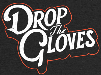 Drop The Gloves sports logo canada clothing apparel sports brand shirt design logo lettering typography hockey