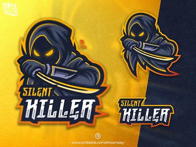 Silent Killer Mascot Logo streaming twitch logo twitch logo game logo mascot gaminglogo gaming sword killer assassin sport mascot logo esport logo illustration mascot logo game esport character brand