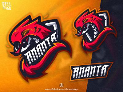 Viper Ananta Mascot Logo illustration bold fire snake logo snake viper sport twitch logo twitch gaming esport logo mascot logo game esport logo mascot brand