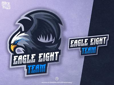 Eagle Eight Team Mascot Logo hawk falcon streaming gaming logo eagle logo eagle twitch logo twitch gaming sport esport logo mascot logo game esport mascot logo brand