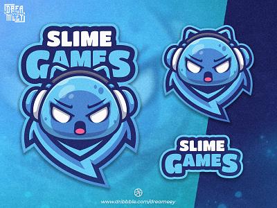 Slime Games Mascot Logo bold logo logo gamer character cartoon streaming slime game logo game illustration gaming sport twitch logo esport logo game mascot logo esport mascot logo brand slime