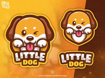 Little Dog Mascot Logo character design mascot character dog mascot animal logo animal esport logo twitch logo cute animal cute dog illustration dog logo dog character illustration mascot logo mascot logo brand