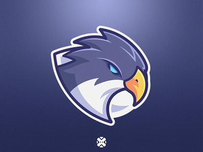 Eagle Mascot sport logo cartoon eagle logo e-sport gaming sport design esport mascot logo illustration character brand logo mascot bird hawk eagle