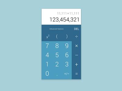 DailyUI 4 – Calculator