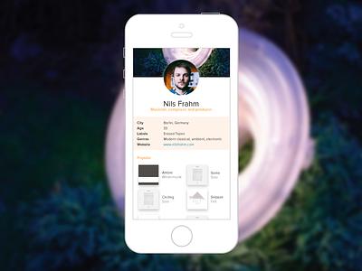 Daily UI 6 – User Profile mobile profile 6 challenge dailyui