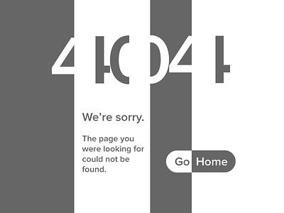 Daily UI 8 – 404 Page negative space error 404 web 8 challenge dailyui