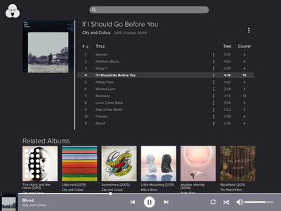 Daily UI 9 – Music Player