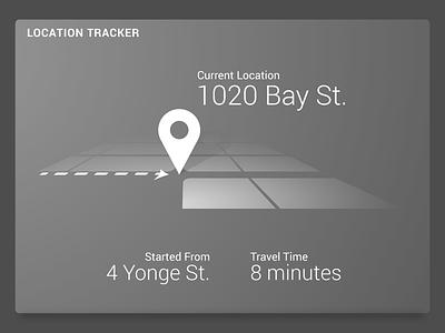 Daily UI 20 – Location Tracker simple monotone map location 20 challenge dailyui
