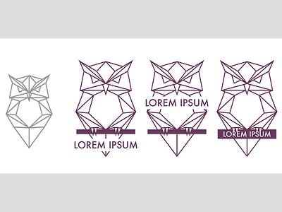 Owl Logo  wordmark vector logo