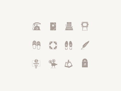 """Feather"" icon set. Part 3. photoshop icon glyph feather dribbble flickr youtube vimeo folder phone exit enter help"