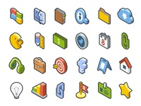 Isometric Icon Set