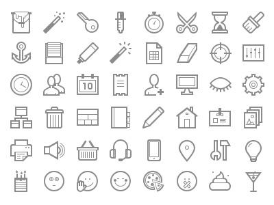 Admin + Web + Smiles Icon Set text edit smiles admin development web icon