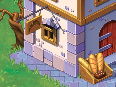 Bakery pixel perfect casual game game photoshop building isometric