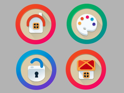 Game icons photoshop palette unlocked home game icon flat material design
