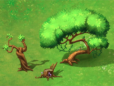 Trees illustration photoshop green tree game art game