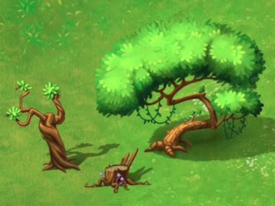 Trees illustration photoshop green tree game art game