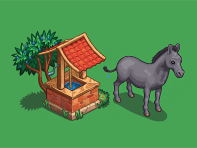 Some test assignment illustration donkey game art game building vector