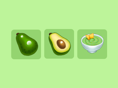 Avocado and Guacamole icons photoshop guacamole avocado game art game icon