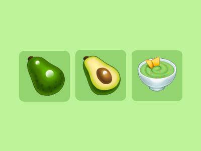 Avocado and Guacamole icons photoshop guacamole avocado game art game icon