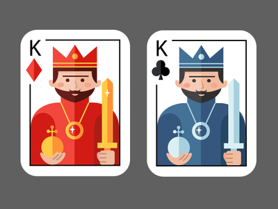 Cards vector king card game card material design