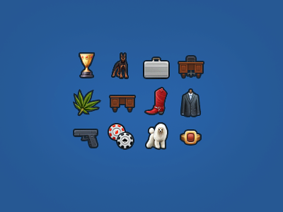 Small Icons icon fb game table case dog glock chip boot сoat cannabis