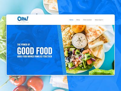 OPA! The Power of Good Food restaurant food webflow web website design