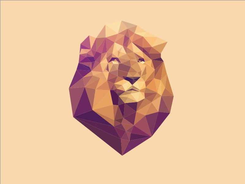 animated polygon lion by gray ghost dribbble