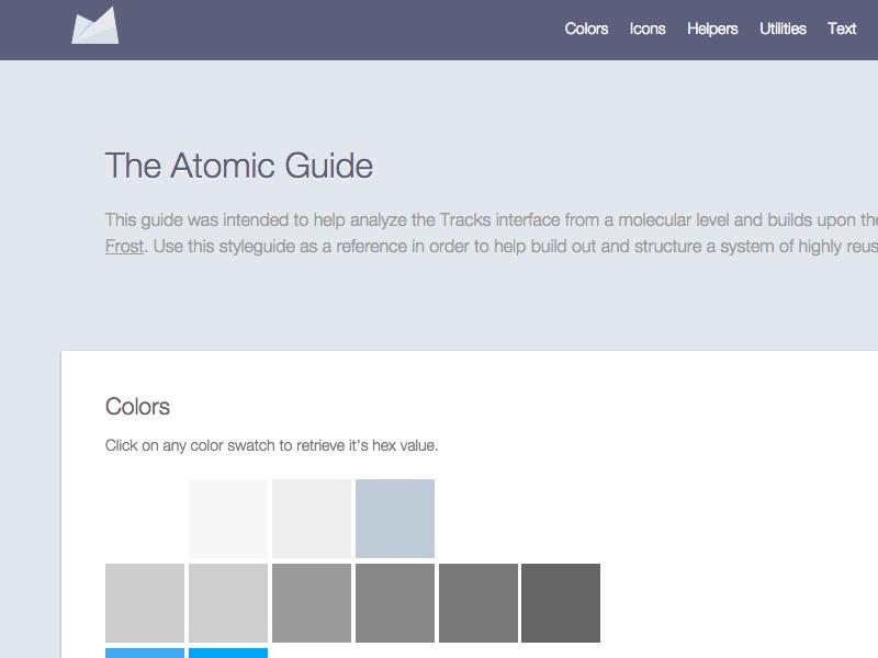 Atomic Guide front-end development ui guide style guide development html css javascript ui patterns assemble