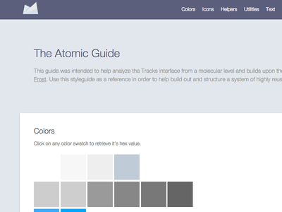 Atomic Guide front-end development ui guide style guide development html css javascript ui patterns assemble