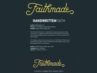 Faithmade Case Study