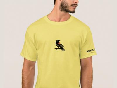 Murmuration Tee beer textile branding design layout malt malting redwing blackbird t-shirt typography vector