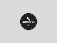 Murmuration Round Sticker : White on Black