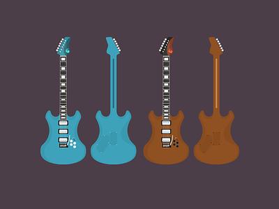 Electric Guitar electric guitar instrument design instrument guitar vector design music illustration
