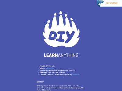 DIY Case Study web development web design css html svg typography layout design
