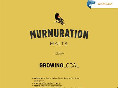 Murmuration Malts Case Study web development web design css html svg typography layout design
