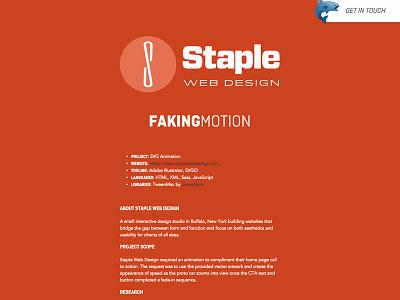 Staple Web Design Case Study web development web design typography svg layout html design css
