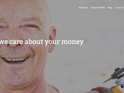 Putnam Financial Hero design css html web design typography layout web ui interface design hero website