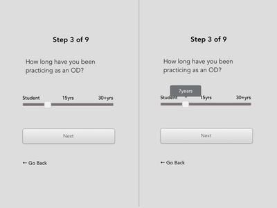 Quiz Range Slider wireframe design typography layout web design prototyping graphic design screen design sketch atomic website
