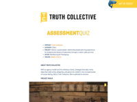 Truth Collective Case Study interface design case study atomic sketch component design atomic design development ux ui wireframe prototype web design