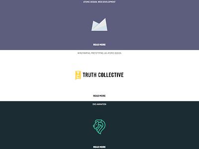 Featured Work List design layout motion web design ui ux development atomic design typography case study interface design