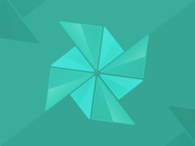 Pinwheel logo identity branding