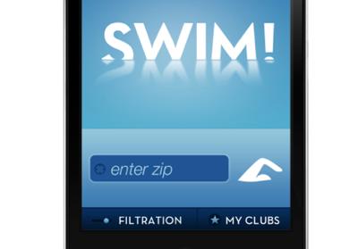 Swim club finder app UI ui swim mobile