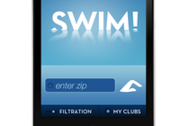 Swim club finder app UI