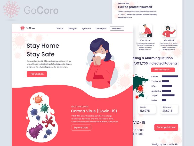 Go Corona web ui