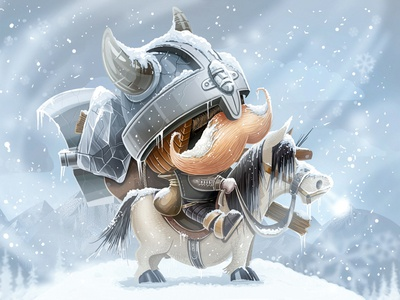 Viking game viking character concept screen ios winter snow mustache horse weapon axe